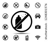ban  forbiddance spray  sprayer ... | Shutterstock .eps vector #1248301576
