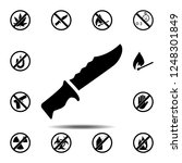knife  chopper icon. simple...