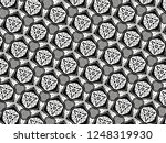 ornament with elements of black ... | Shutterstock . vector #1248319930