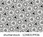 ornament with elements of black ... | Shutterstock . vector #1248319936