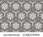 ornament with elements of black ... | Shutterstock . vector #1248319960