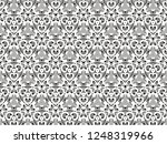 ornament with elements of black ... | Shutterstock . vector #1248319966
