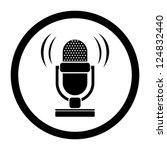 retro microphone icon | Shutterstock .eps vector #124832440