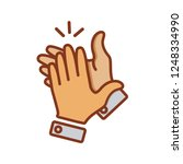 hand clapping icon in trendy... | Shutterstock .eps vector #1248334990