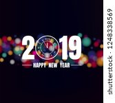 happy new year 2019 on colorful ... | Shutterstock .eps vector #1248338569
