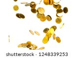 movement of falling gold coin ... | Shutterstock . vector #1248339253