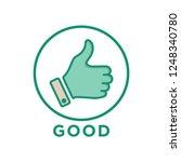 like icon in trendy flat style  ... | Shutterstock .eps vector #1248340780
