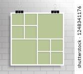 templates collage ten frames... | Shutterstock .eps vector #1248341176