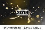2019 tinsel confetti isolated ...   Shutterstock .eps vector #1248342823