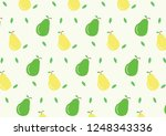 vector green pear yellow pear... | Shutterstock .eps vector #1248343336