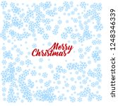snowflake on a blue background. ...   Shutterstock . vector #1248346339
