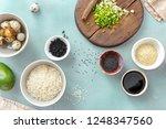 various raw ingredients for... | Shutterstock . vector #1248347560