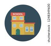 school   building   apartment   | Shutterstock .eps vector #1248349600