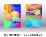 cover design. colorful liquid... | Shutterstock .eps vector #1248350623