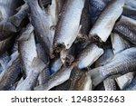 thai sun dried fish on basket...   Shutterstock . vector #1248352663