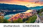 great summer sunset in kotor...   Shutterstock . vector #1248356836