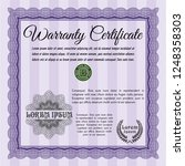 violet retro vintage warranty...   Shutterstock .eps vector #1248358303