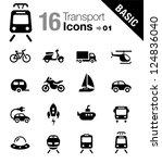 basic   transportation icons | Shutterstock .eps vector #124836040