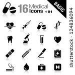 basic   medical icons   Shutterstock .eps vector #124836094