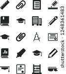 solid black vector icon set  ... | Shutterstock .eps vector #1248361483