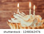 birthday holiday sweet cupcakes ... | Shutterstock . vector #1248362476