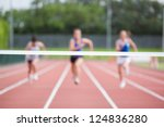 female athletes running towards ... | Shutterstock . vector #124836280