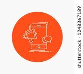 bullhorn  marketing  mobile ... | Shutterstock .eps vector #1248367189
