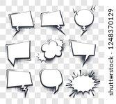 set hand drawn blank effects... | Shutterstock .eps vector #1248370129