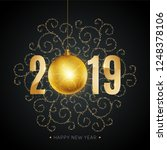 new 2019 year greeting card... | Shutterstock .eps vector #1248378106
