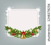 banner with firtree with... | Shutterstock .eps vector #1248378256