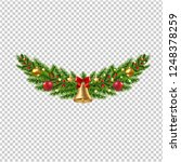 christmas garland isolated... | Shutterstock .eps vector #1248378259