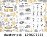 hand drawing christmas holiday... | Shutterstock .eps vector #1248379333