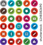 white solid icon set  water tap ... | Shutterstock .eps vector #1248382690