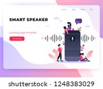 user with voice controlled... | Shutterstock .eps vector #1248383029