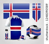 iceland country flag place on t ...   Shutterstock .eps vector #1248390589