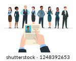 recruitment concept. business... | Shutterstock .eps vector #1248392653