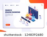 search engine rank isometric... | Shutterstock .eps vector #1248392680