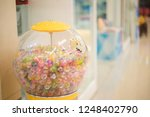 the ball is in the machine.... | Shutterstock . vector #1248402790