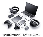 gadgets and accessories... | Shutterstock . vector #1248412693