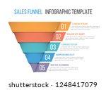 funnel diagram  business... | Shutterstock .eps vector #1248417079