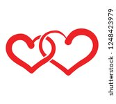 two heart valentine icon   Shutterstock .eps vector #1248423979