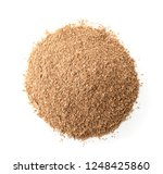 top view of bran flour pile... | Shutterstock . vector #1248425860