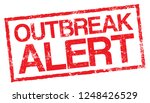 outbreak alert. vector red...   Shutterstock .eps vector #1248426529