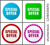 special offer red  blue  green... | Shutterstock .eps vector #1248430693