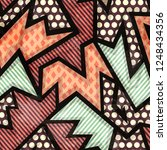 cloth geometric seamless... | Shutterstock . vector #1248434356