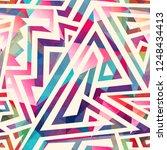 colored maze seamless pattern   | Shutterstock . vector #1248434413