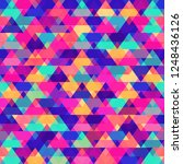 colored triangle pattern | Shutterstock .eps vector #1248436126