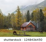 old house in the taiga  late... | Shutterstock . vector #1248436450