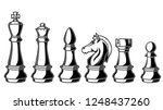 illustration of chess figures... | Shutterstock .eps vector #1248437260