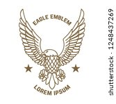 emblem template with eagle in... | Shutterstock .eps vector #1248437269